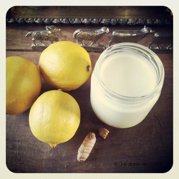 yaourt citron curcuma