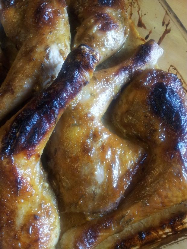 cuisses de poulet roties