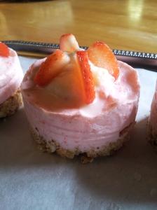 mousse glacée fraise