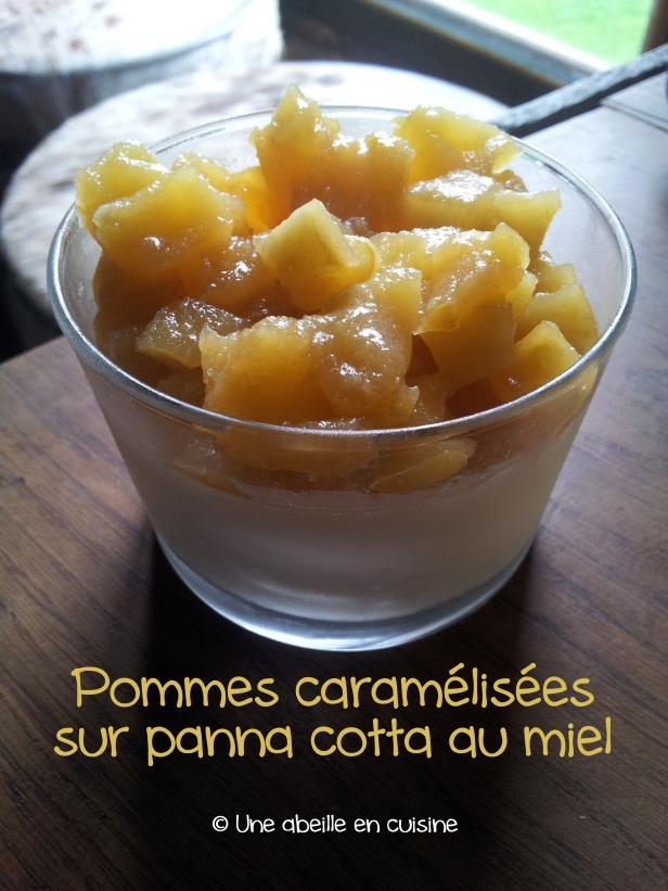 pommes-caramelisees-panna-cotta-miel