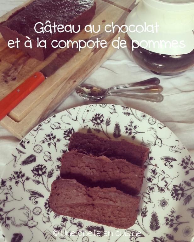 gâteau chocolat compote copie