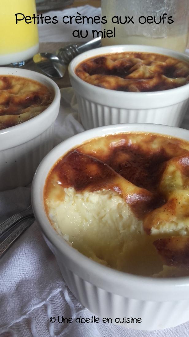 crème aux oeufs au miel 2