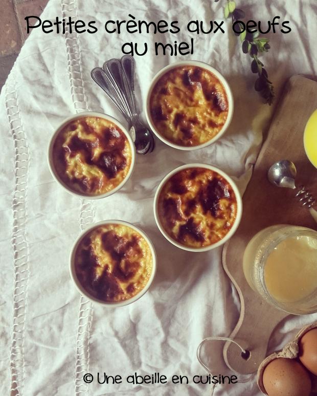 crème aux oeufs au miel