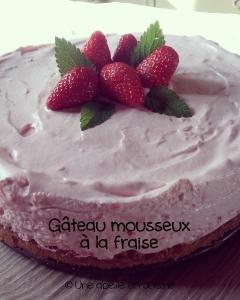 gâteau mousseux à la fraise