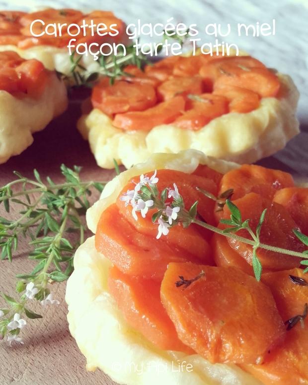 carottes glacées au miel façon tarte tatin