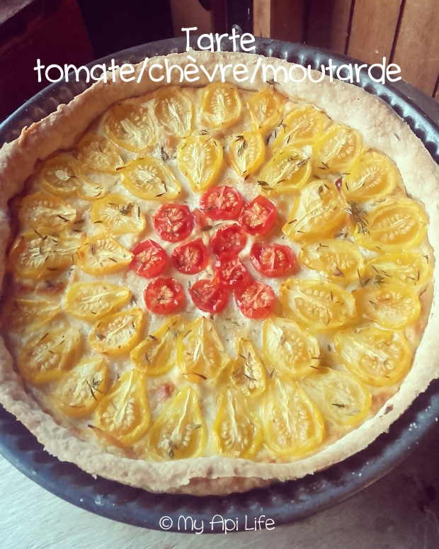 tarte tomate chèvre moutarde