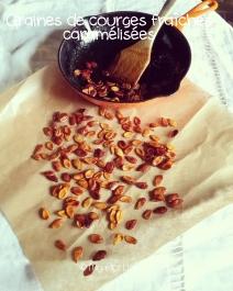 graines de courge fraîches caramélisées