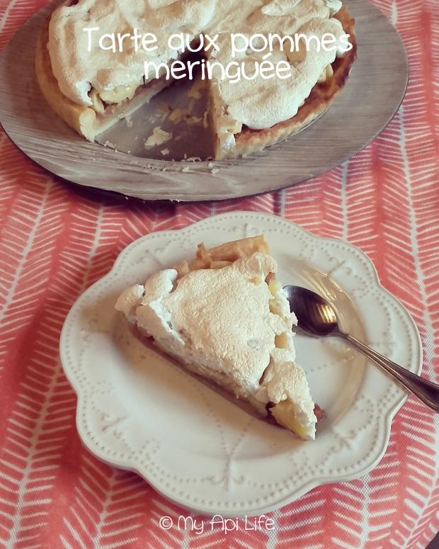 tarte aux pommes meringuée