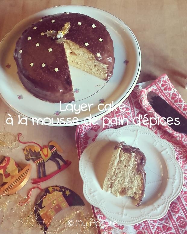 Gâteau de Noël à la mousse de pain d'épices