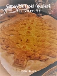 Sapin de Noël feuilleté au saumon