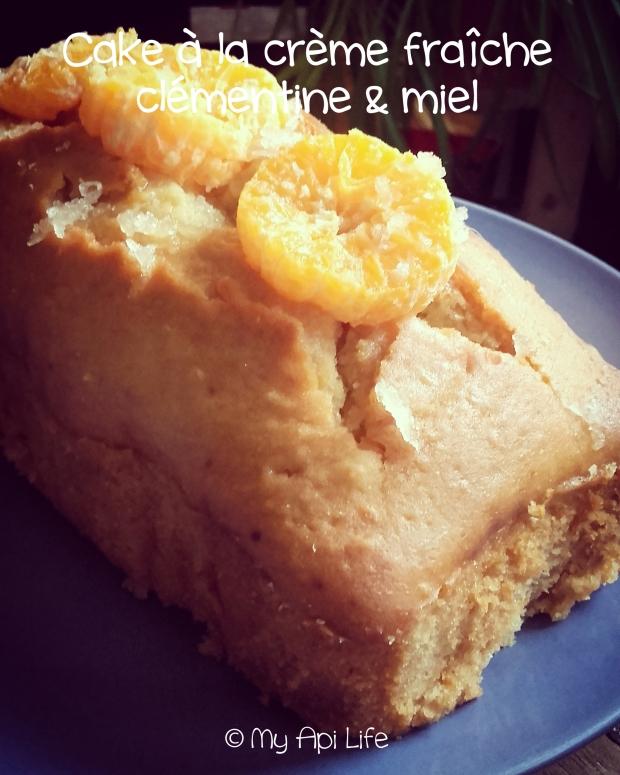 cake crème fraîche clémentine miel