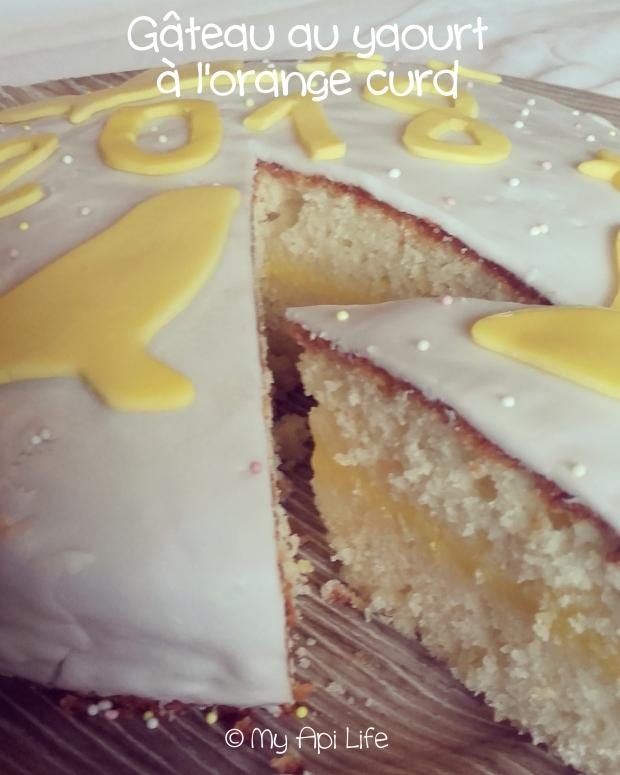 gâteau au yaourt à l'orange curd
