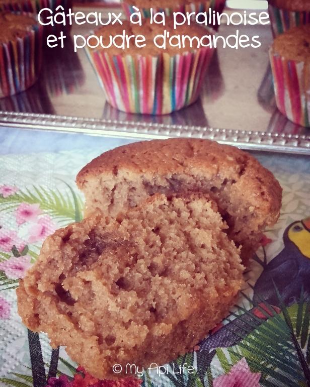 gâteaux à la pralinoise et à la poudre d'amandes