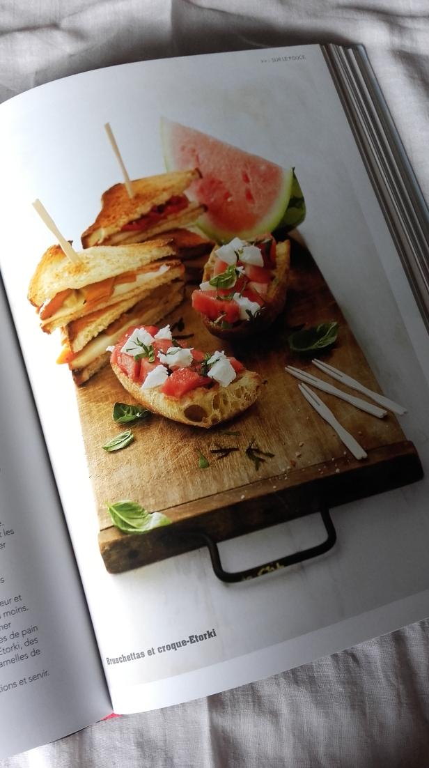bruschettas et croque-Etorki
