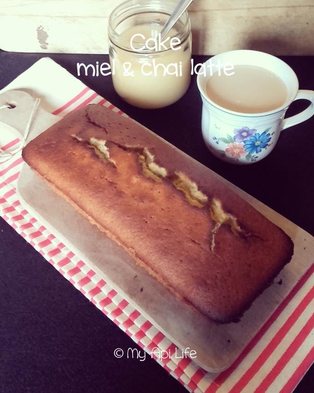 Cake chai latte & miel