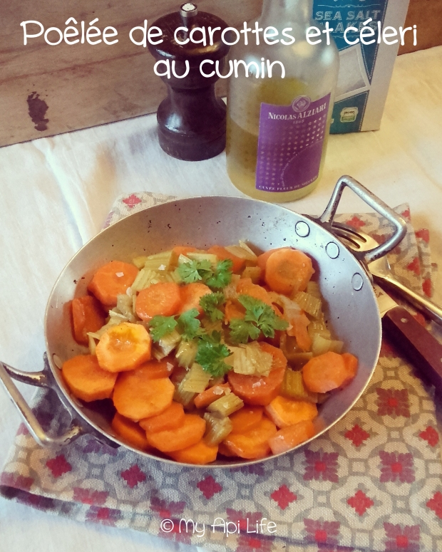 poêlée de carottes et céleri au cumin