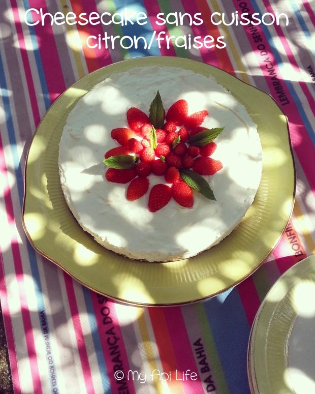 cheesecake sans cuisson citron fraises