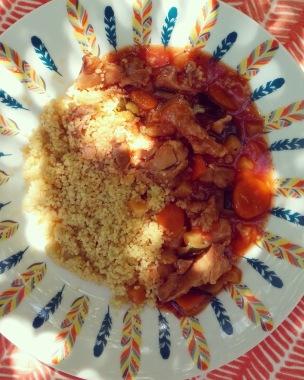 Couscous au poulet et ses légumes