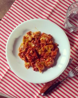 raviolinis au fromages et sauce tomate au tofu