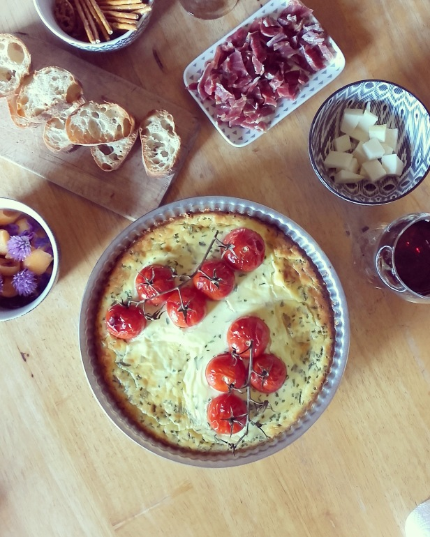 Tarte au cream cheese et tomates façon cheesecake