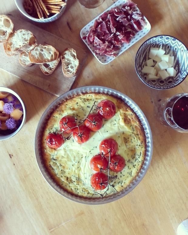 Tarte au cream cheese et tomates façon cheesecake