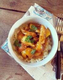 Curry de dinde express à la mangue et au miel