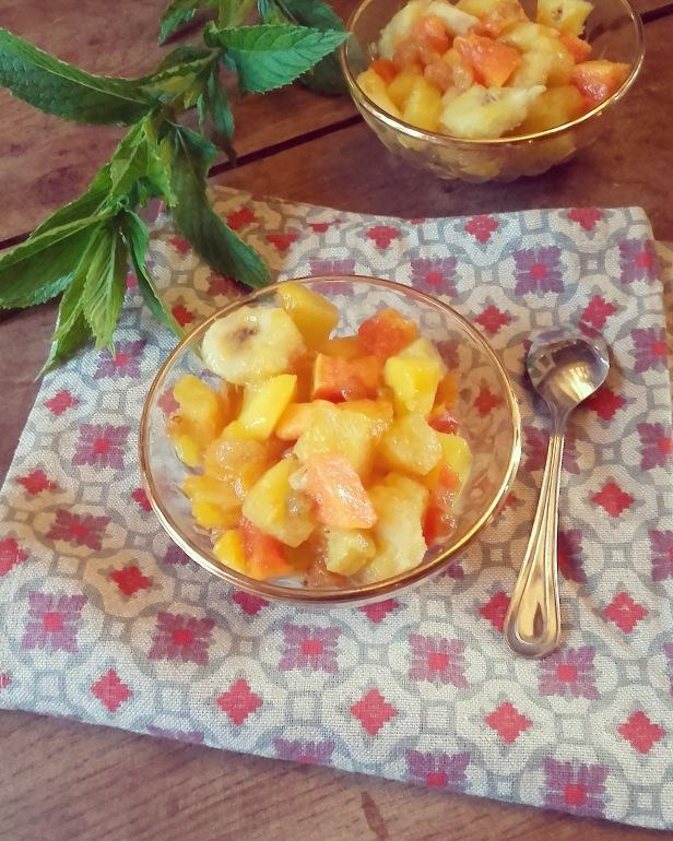Poêlée de fruits exotiques au miel