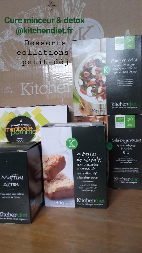 Cureminceur et detox Kitchendiet, desserts et collations équilibrés