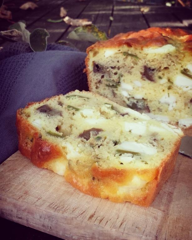 cake à la feta et aux légumes d'été