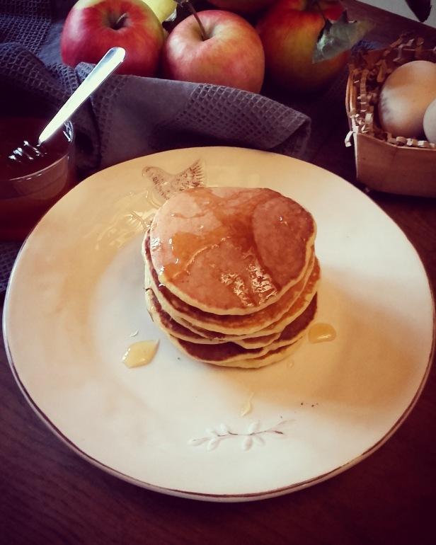 pancakes à la compote de pomme