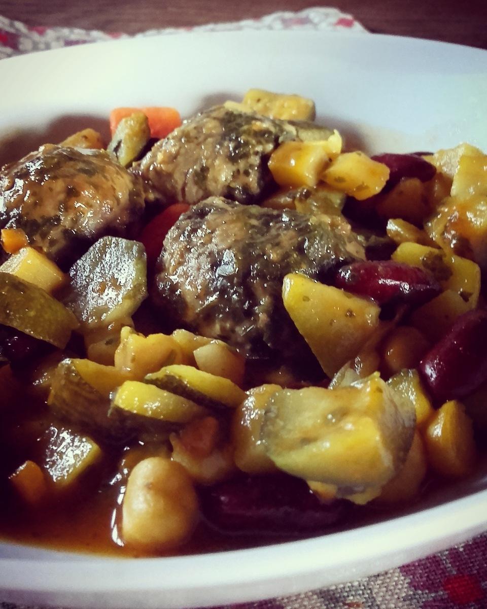 Tajine de boulettes de boeuf aux petits légumes