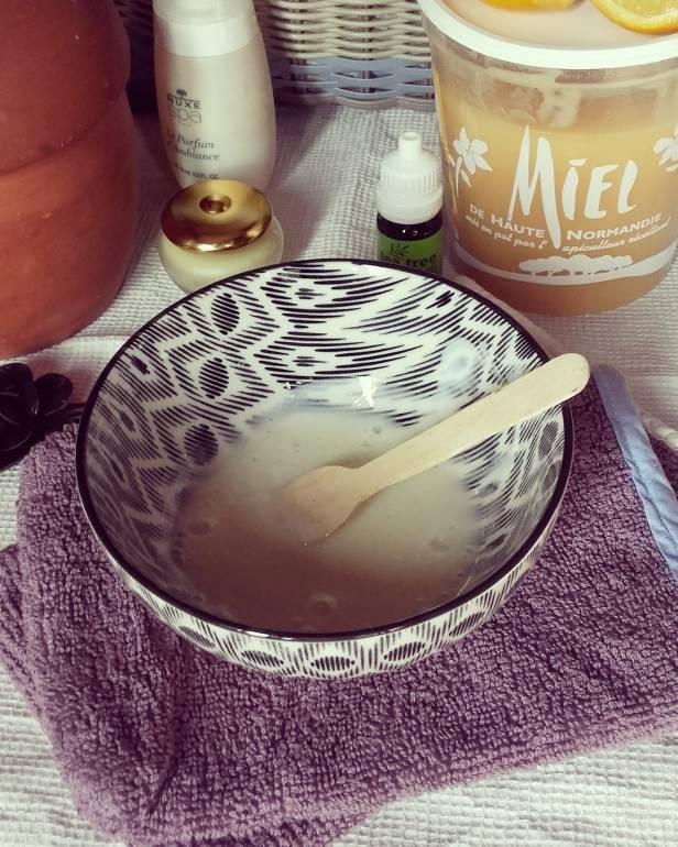 masque visage yaourt, miel et citron