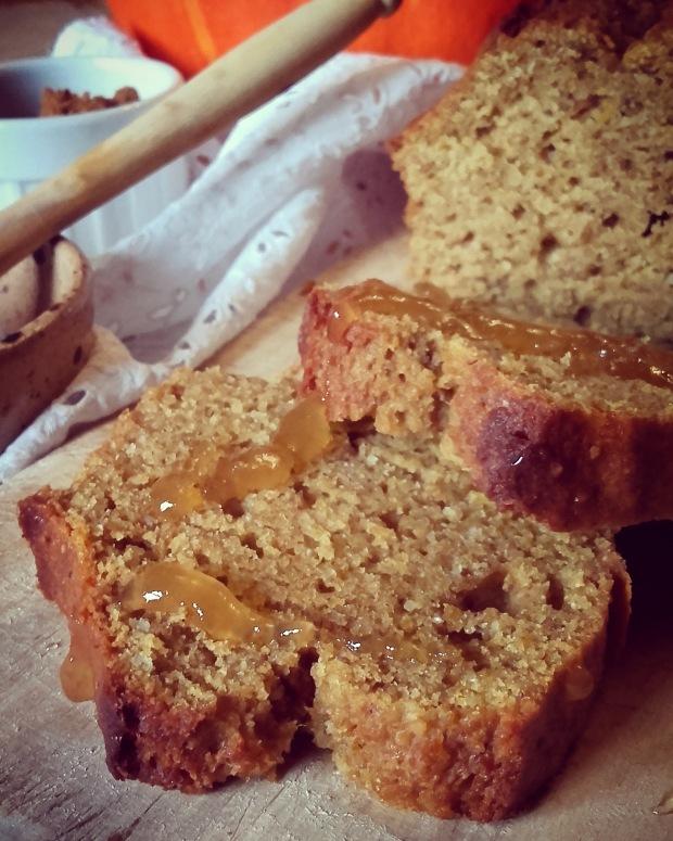 cake d'automne potimarron miel épices