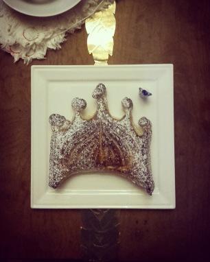 galette des rois couronne au chocolat