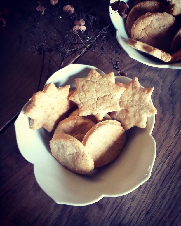 sablés apéritif parmesan/noisette