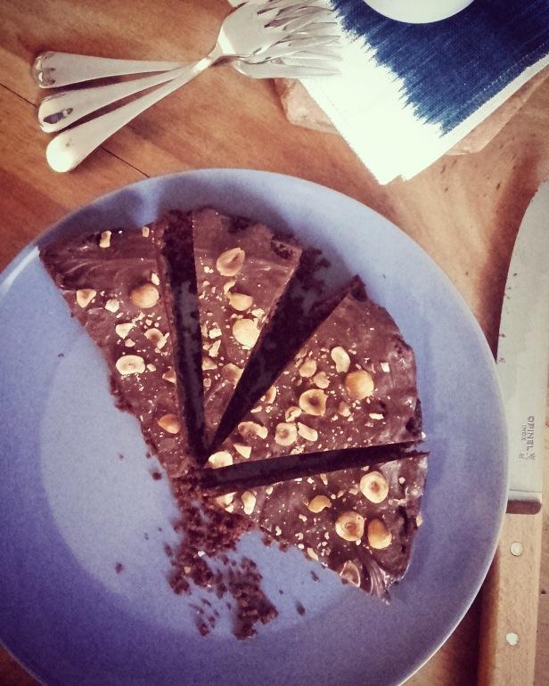 gâteau chocolat noisette sans gluten