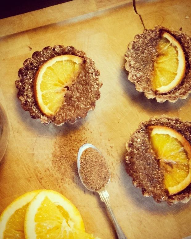 tartelettes à l'orange sans gluten