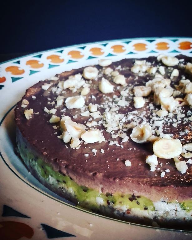 Recette paléo: tarte crue kiwi chocolat