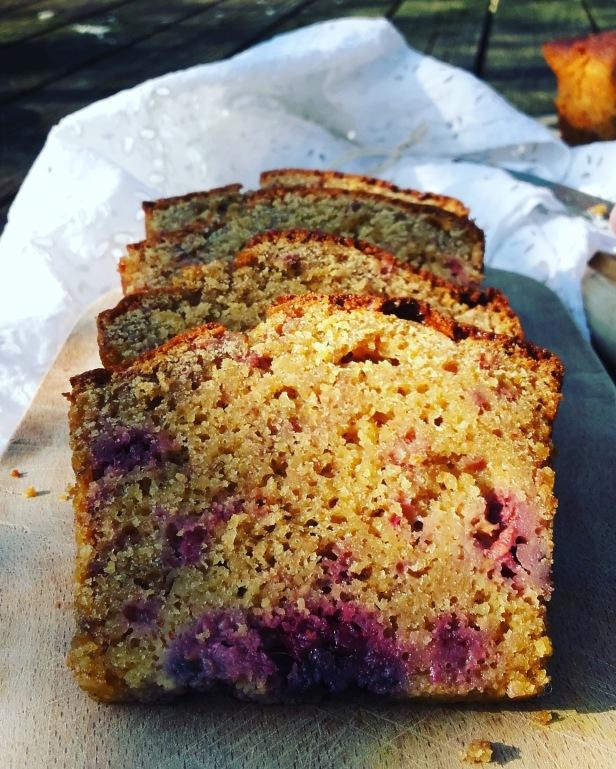 Gâteau au yaourt amande/framboise sans gluten
