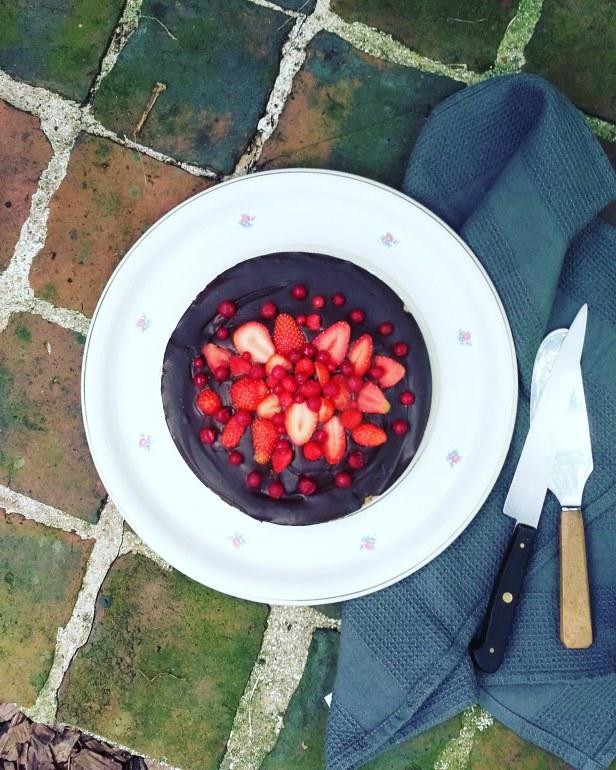 tarte crue chocolat fruits rouges (sans gluten, sans lactose, paléo)