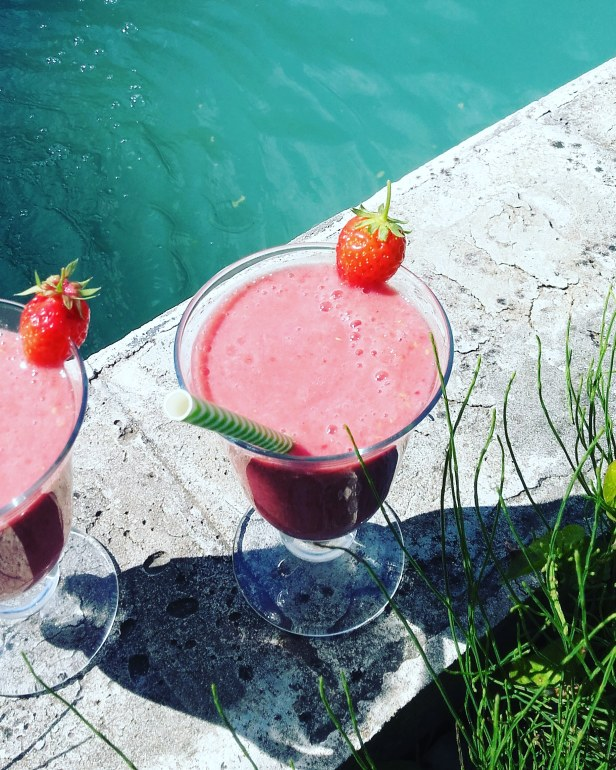 smoothie fraise framboise