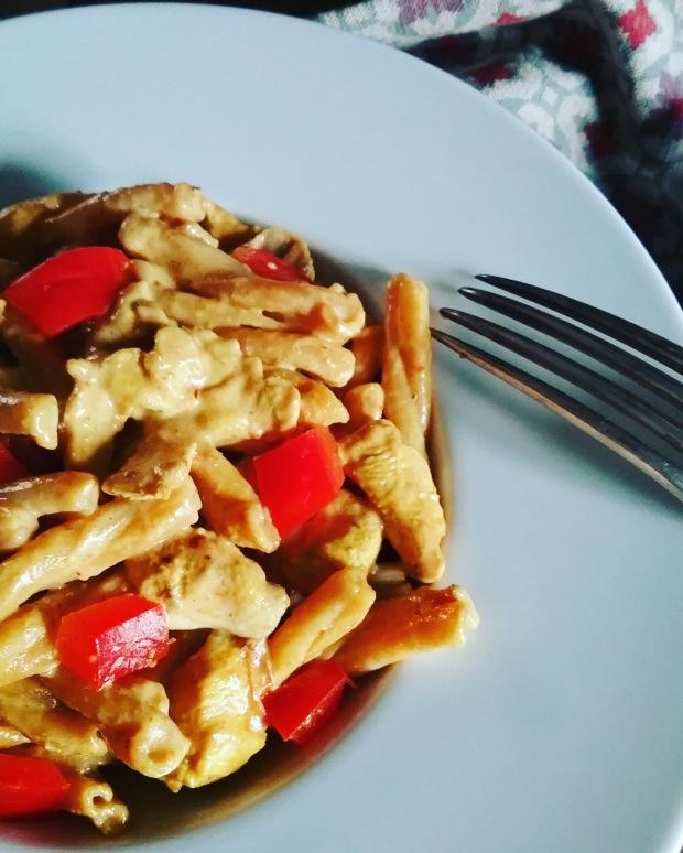 pasta butter chicken à la crème de coco