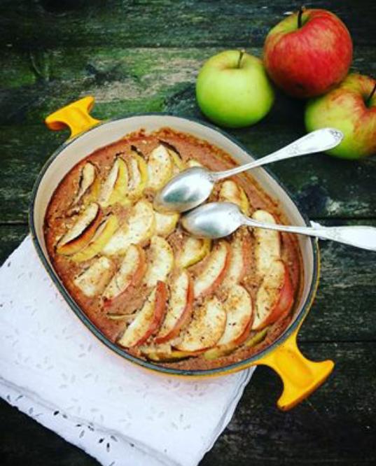 Gâteau fondant aux pommes et épices sans gluten sans lactose