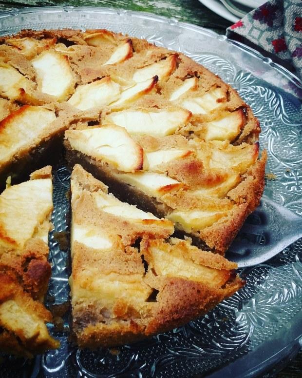 Gâteau aux pommes et au sarrasin sans gluten sans lactose