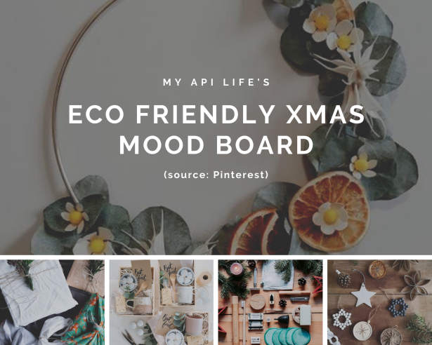 eco friendly xmas moodboard