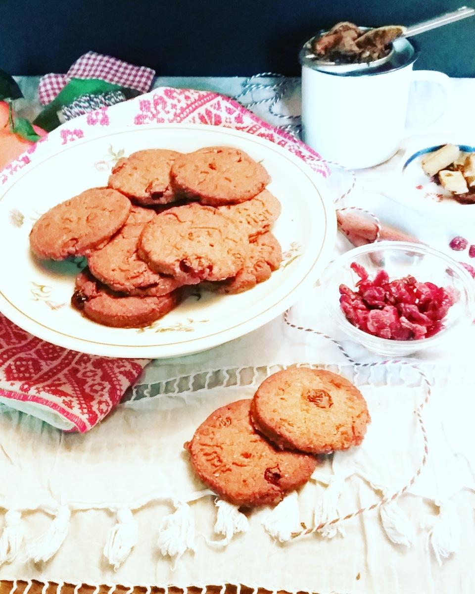 sablés de Noël cranberries cannelle sans gluten sans lactose