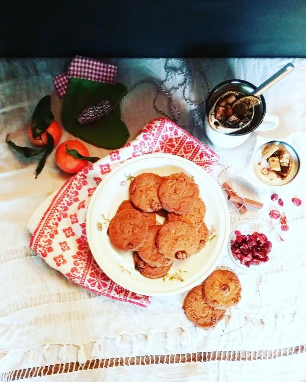 Sablés de Noël cranberries cannelle sansgluten sans lactose