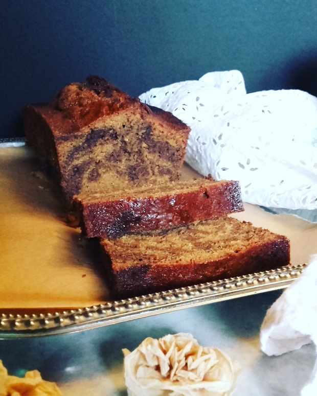 cake marbré orange chocolat