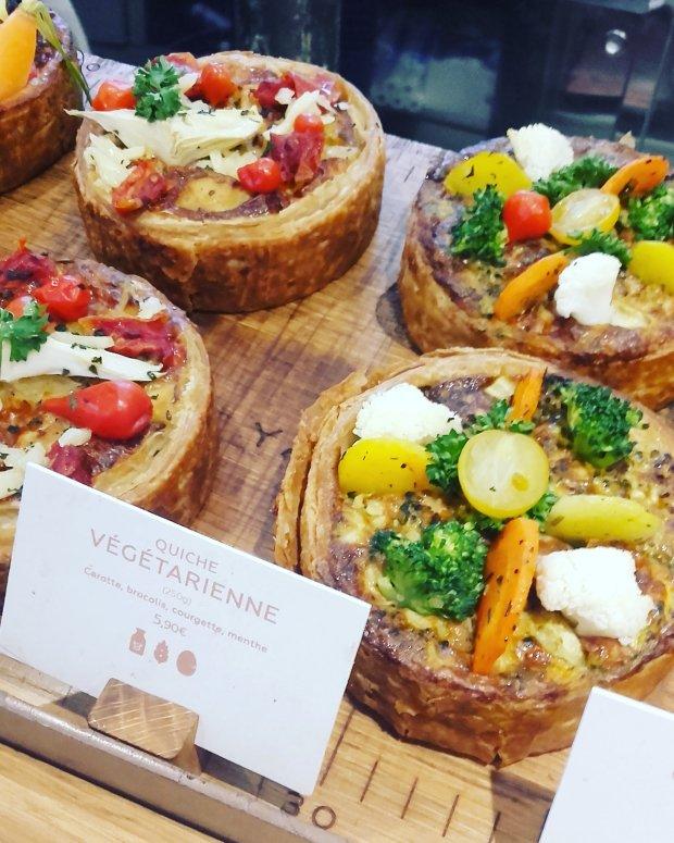 Yann Couvreur pâtisserie: quiches végétariennes