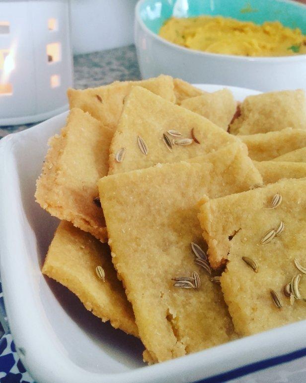 crackers de polenta sans gluten